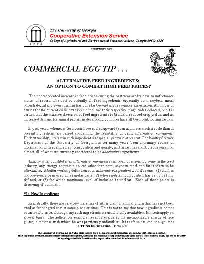 Publication Archive | UGA Poultry House Environmental
