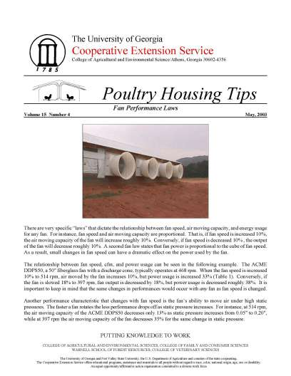Poultry Housing Tips | UGA Poultry House Environmental